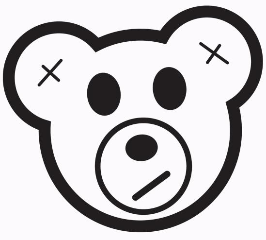 DJ Snuggles Bear Logo