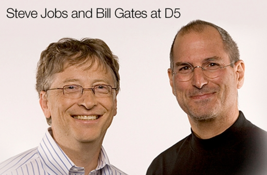Steve Jobs & Bill Gates at D5