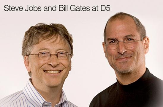 Steve Jobs & Bill Gates at D5